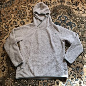 The North Face Blue Hoodie Popcorn Fleece size XL